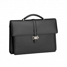 00114679 4810 WST BRIEFCASE DOUBLE GUSSET BLACK MONTBLANC