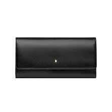 00114530 MST LONG WALLET 10CC WITH FLAP BLACK MONTBLANC