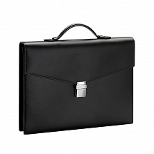 00114523 MST BRIEFCASE SINGLE GUSSET SMALL BLACK MONTBLANC