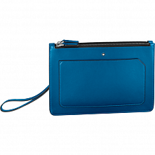 00124083 MST URBAN CLUTCH WITH TWO ZIPS COBALT MONTBLANC