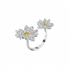 Swarovski 5534948 ETERNAL FLOWER: кольцо DB CZWH/MIX CZ 52