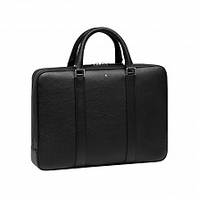 00113002 MST SOFT GRAIN DOCCASE SMALL BLACK MONTBLANC