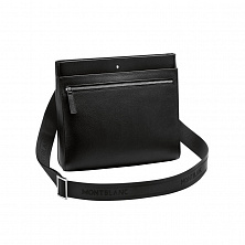 00113790 СУМКА MST SOFT GRAIN ENVELOPE BAG BLACK MONTBLANC